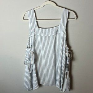 H&M plus size striped tank top (US 14)